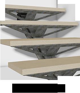 Escalier mécano boulonné IPN/ECO