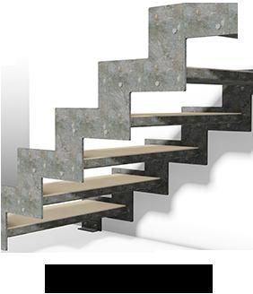 Escalier mécano boulonné latéral