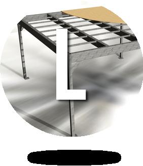 Grande mezzanine métallique en kit L