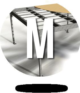 Mezzanine métallique en kit M