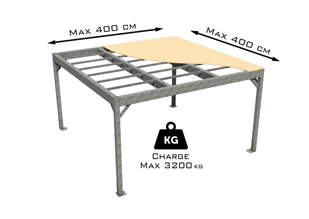 Petite mezzanine en kit taille M