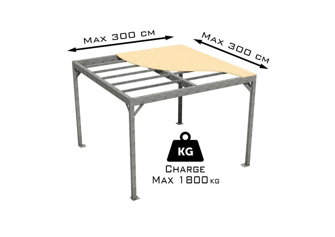 Petite mezzanine en kit taille S