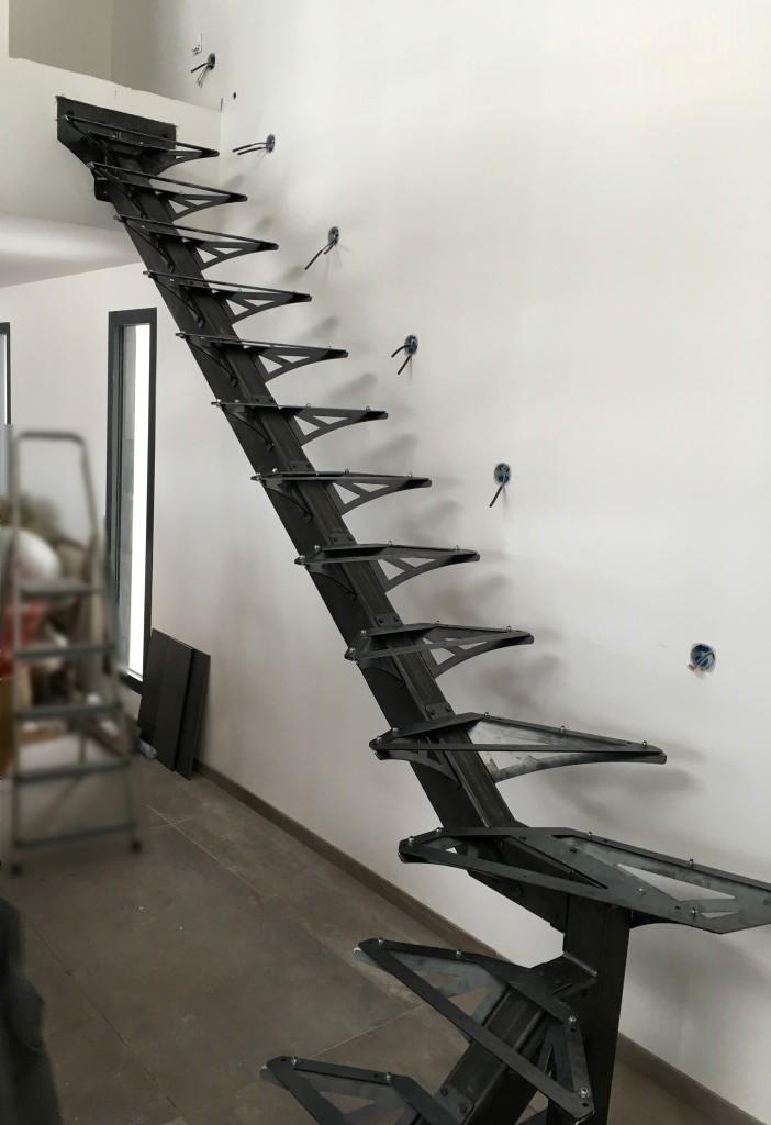 Structure escalier en kit